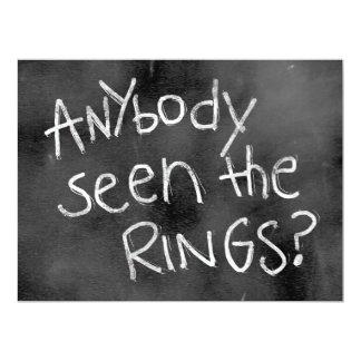 Chalkboard Wedding Sign: For thr Ring Bearer 6.5x8.75 Paper Invitation Card