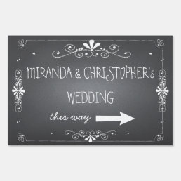 Chalkboard Wedding Sign | Personalized