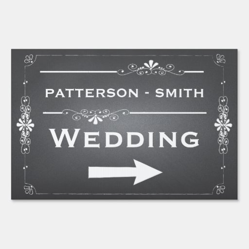Chalkboard Wedding Sign | Personalized