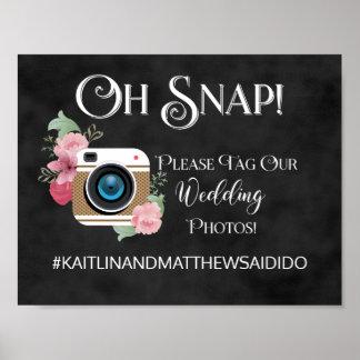 Chalkboard Wedding Sign Photos Hashtag