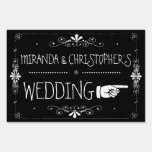 Chalkboard Wedding Sign Right Arrow | Personalized