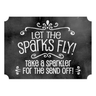 Chalkboard Wedding Sign: Sparkler Send Off Card