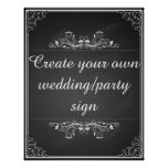 Chalkboard wedding sign with your own words poster