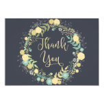 Chalkboard Wedding Thank You Cards Wreath