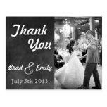 Chalkboard Wedding Thank You Postcard