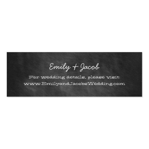 Chalkboard Wedding Website Insert Cards Business Cards