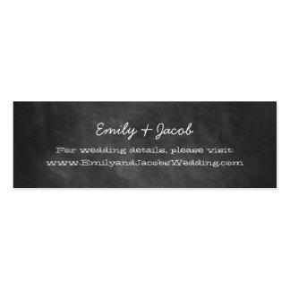 Chalkboard Wedding Website Insert Cards Mini Business Card