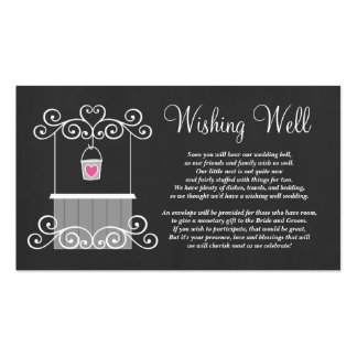 Chalkboard Wedding Wishing Well Double-Sided Standard Business Cards (Pack Of 100)