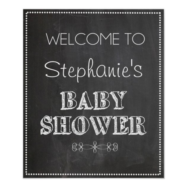 Chalkboard Welcome Baby Shower Sign | Zazzle.com