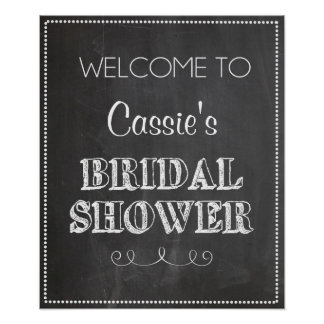 Chalkboard Welcome Bridal Shower Sign