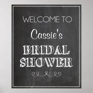 Chalkboard Welcome Bridal Shower Sign Poster