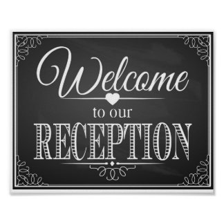 Chalkboard Welcome to our reception print