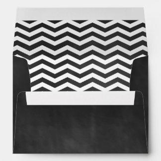 Chalkboard & White Chevrons Sweet 16 Envelope