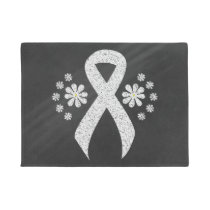 Chalkboard White Ribbon Doormat