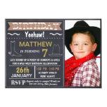 Chalkboard Wild West Photo Birthday Invitation 11 Cm X 16 Cm Invitation Card