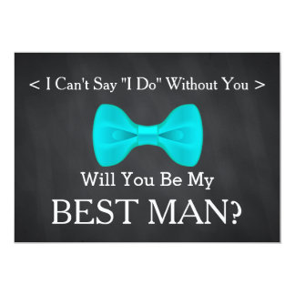 Chalkboard Will You Be my Best Man Card