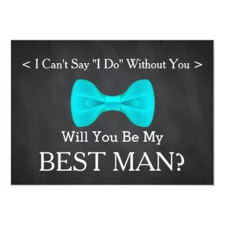 Chalkboard Will You Be my Best Man Card