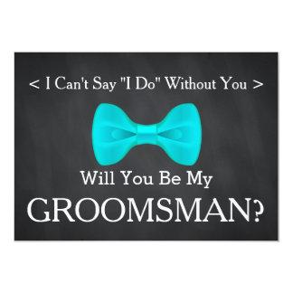 Chalkboard Will You Be my Groomsman Card