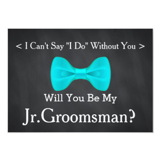 Chalkboard Will You Be my Jr.Groomsman Card