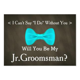 Chalkboard Will You Be my Jr.Groomsman Card