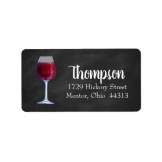 Chalkboard Wine Personalized Address Labels