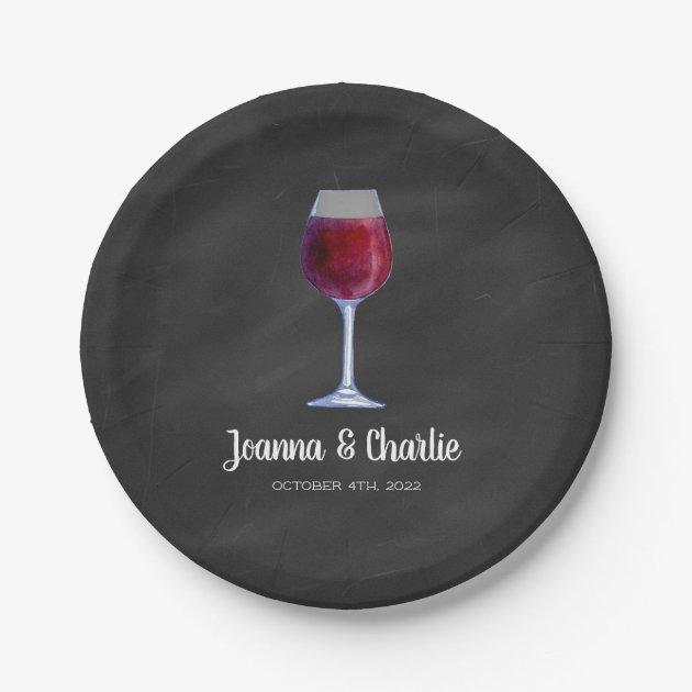 sc 1 st  Zazzle & Chalkboard Wine Personalized Paper Plates | Zazzle.com