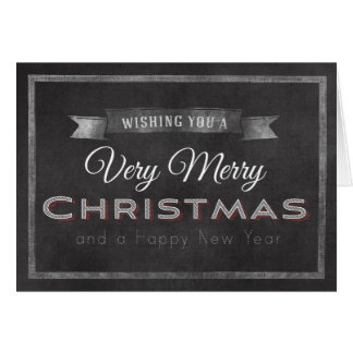 Chalkboard Wishing you a Merry Christmas Card