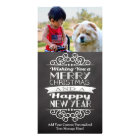 Chalkboard Wishing You Merry Christmas Custom Photo Card