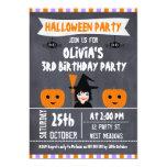Chalkboard Witch Halloween Birthday Invitation