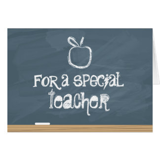 Chalkboard with Apple Card