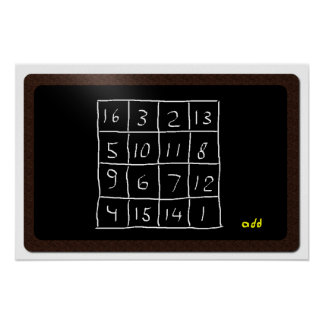 chalkboard with magic square poster