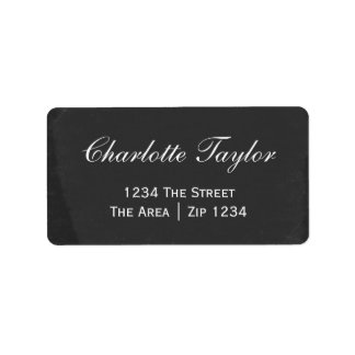 Chalkboard With White Text Custom Address Labels