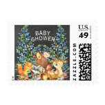 Chalkboard Woodland Baby Shower Postage Stamp