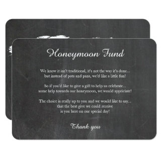Chalkboard world map honeymoon well wishing card