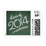Chalkboard Writing Graduation Postage Stamp Green Postage Stamps