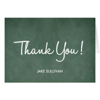 Chalkboard Writing Thank You Card Greeting Card