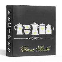 Chalkboard Yellow Kitchen Bridal Recipe Folder