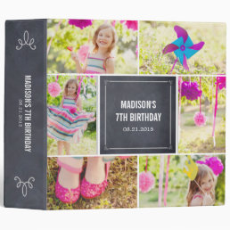 Chalked Collage All Purpose Photo Album 3 Ring Binder