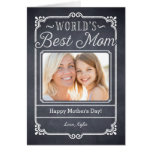 Chalked Frame Mothers Day Photo Card