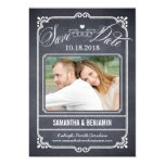 Chalked Frame Save The Date Card Custom Invitations