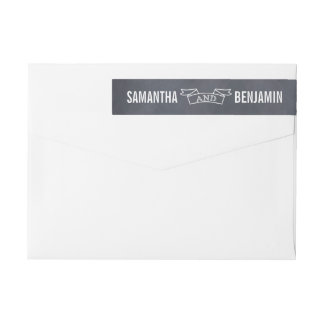 Chalked Frame Save The Date Wraparound Label Wraparound Return Address Label