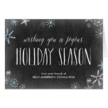 Chalked Snowflakes Business Holiday Greeting Card