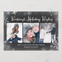 Chalked Snowflakes Holiday Photo Card