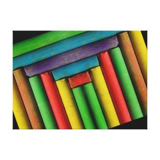 Chalks of color canvas prints