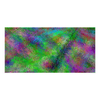 Chalky Colors - Bright Colorful Abstract Card