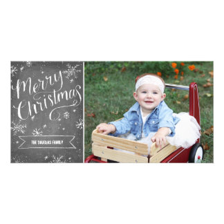 Chalky Hand Drawn Christmas Photo Card