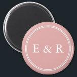 "Chalky Pastel Pink Wedding Party Set Magnet<br><div class=""desc"">Chalky Pastel Pink Wedding Party Set</div>"