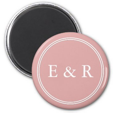 Beach Themed Chalky Pastel Pink Wedding Party Set Magnet