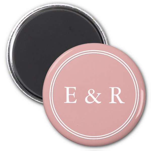 Chalky Pastel Pink Wedding Party Set Magnet