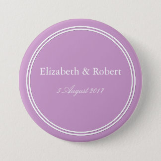 Chalky Pastel Violet Wedding Decoration Set Pinback Button